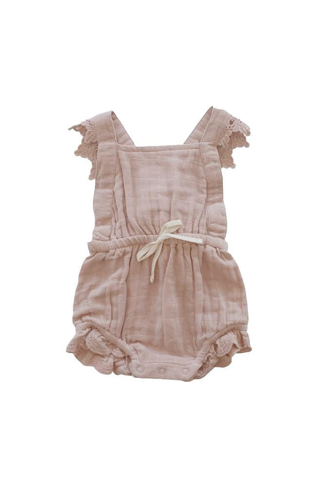 Lace Indie Playsuit Rose Smoke