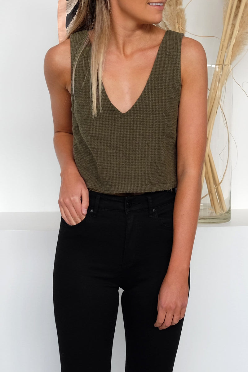 Laced Top Olive RVCA - Jean Jail