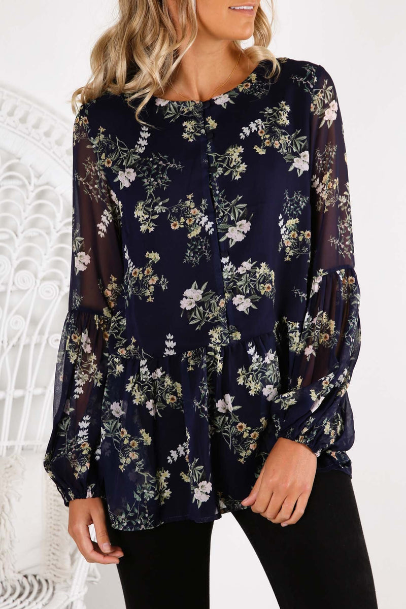 Laylah Exclusive Floral Print Top Laylah Floral Imonni - Jean Jail