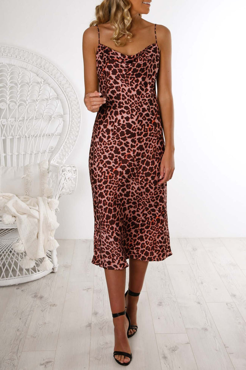 Leopard Dress Peach Leopard The Fifth Label - Jean Jail