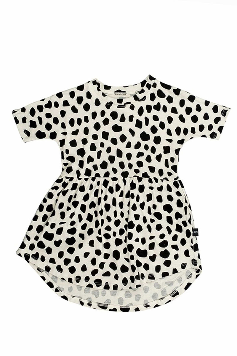 Leopard Swirl Dress Sand
