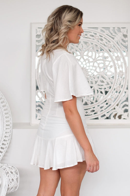 Line Of Sight Dress White