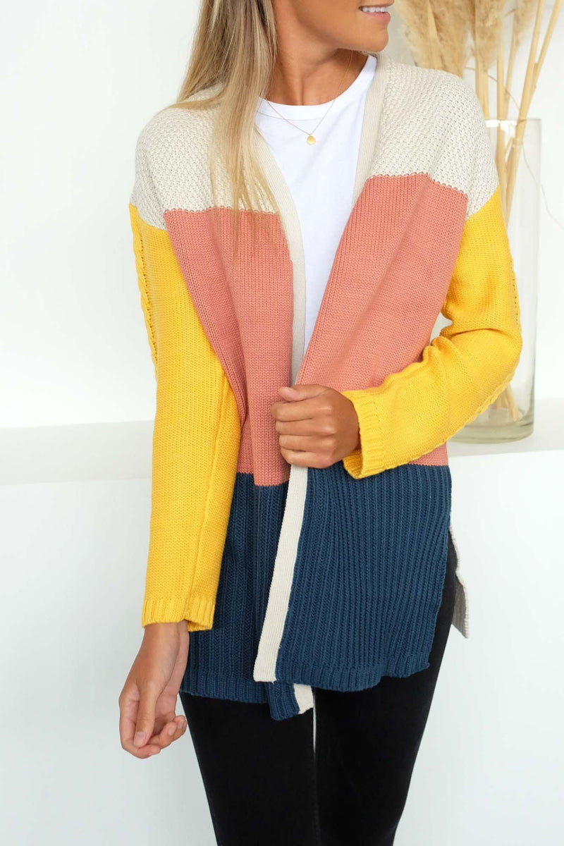Link Panelled Knit Cardi Multicoloured All About Eve - Jean Jail