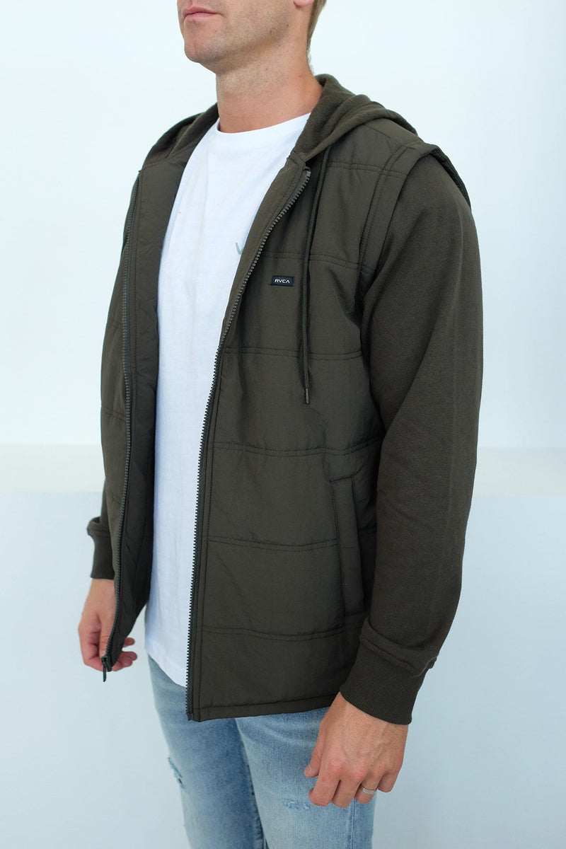 Logan Puffer Jacket Dark Military