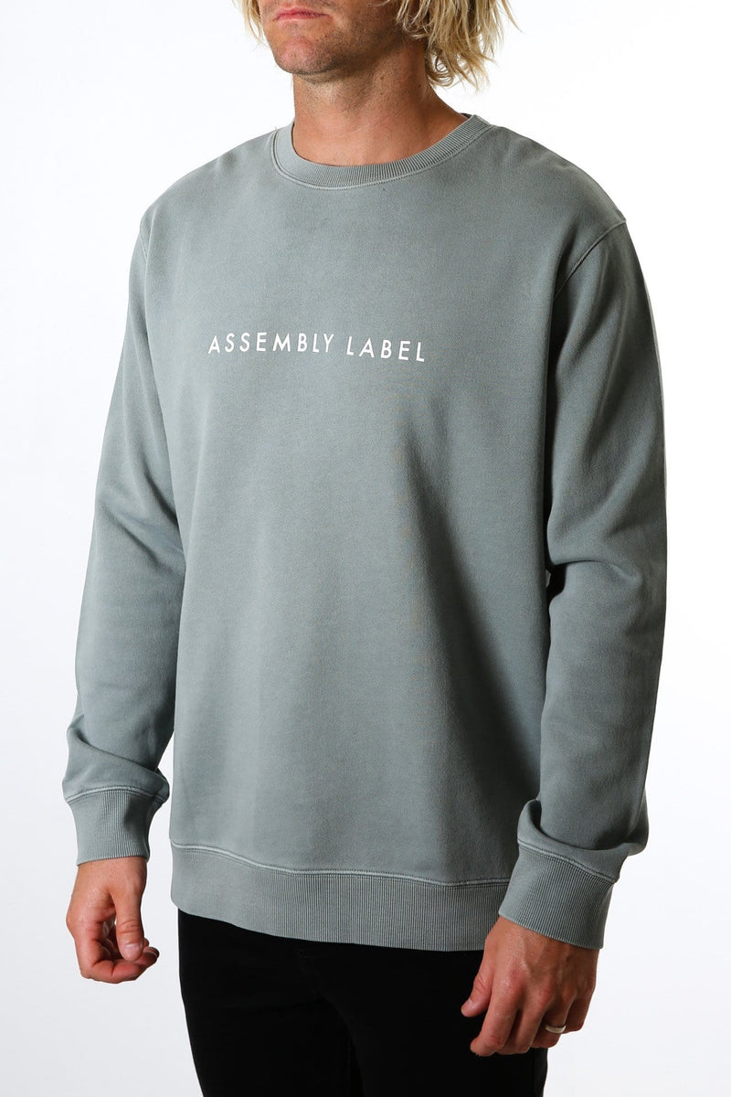 Logo Fleece Pullover Mineral Green