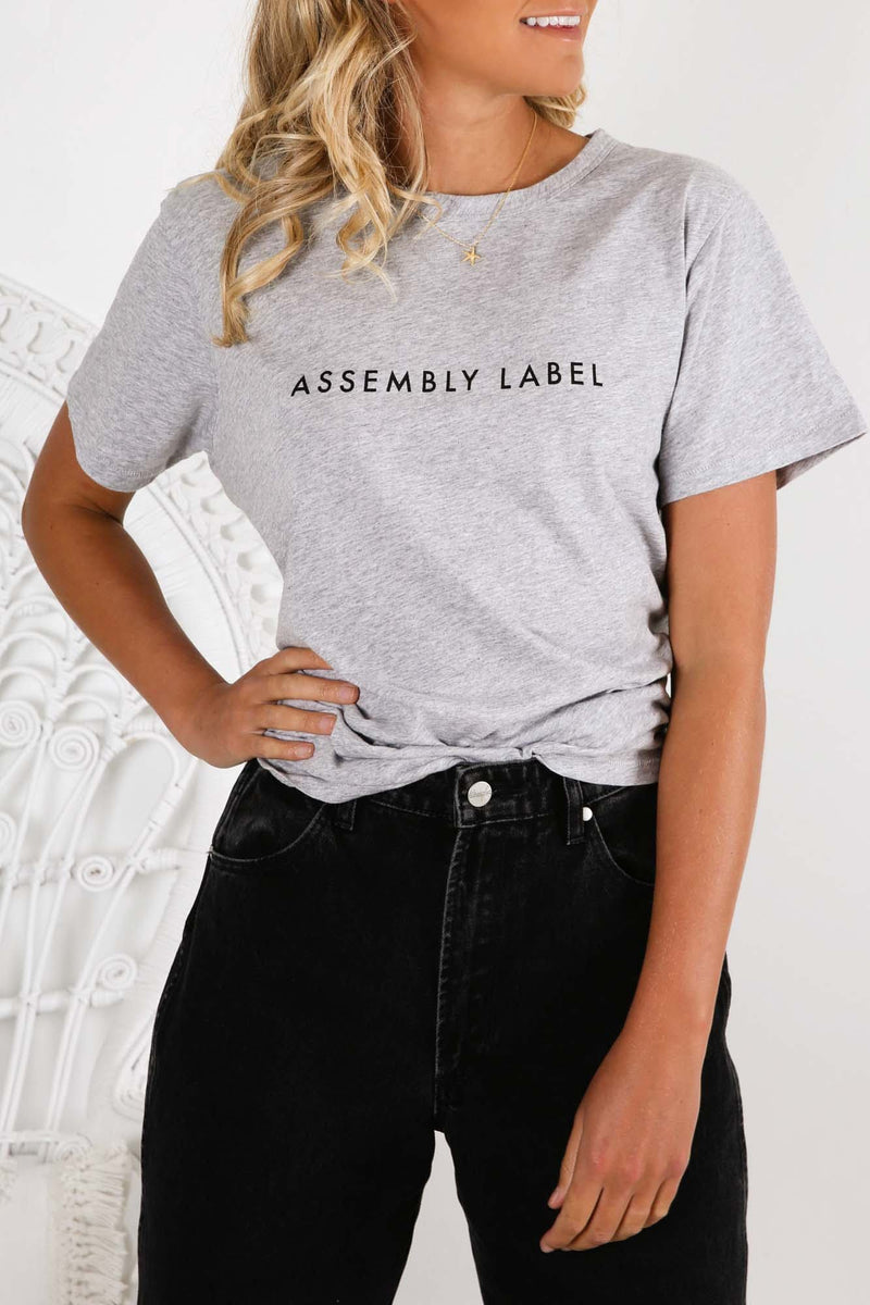 Logo Tee Grey Marle Assembly Label - Jean Jail