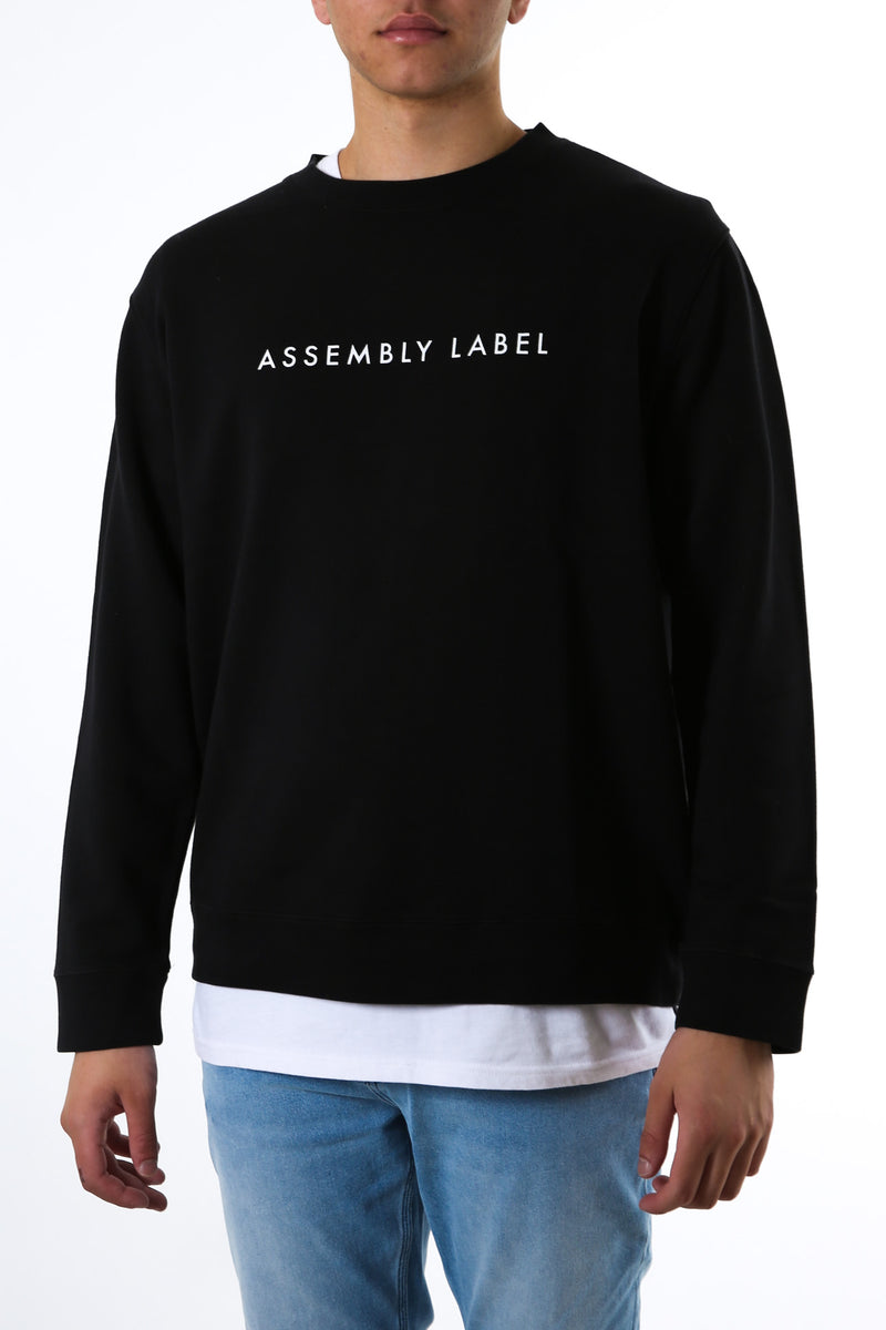 Logo Fleece Pullover Black