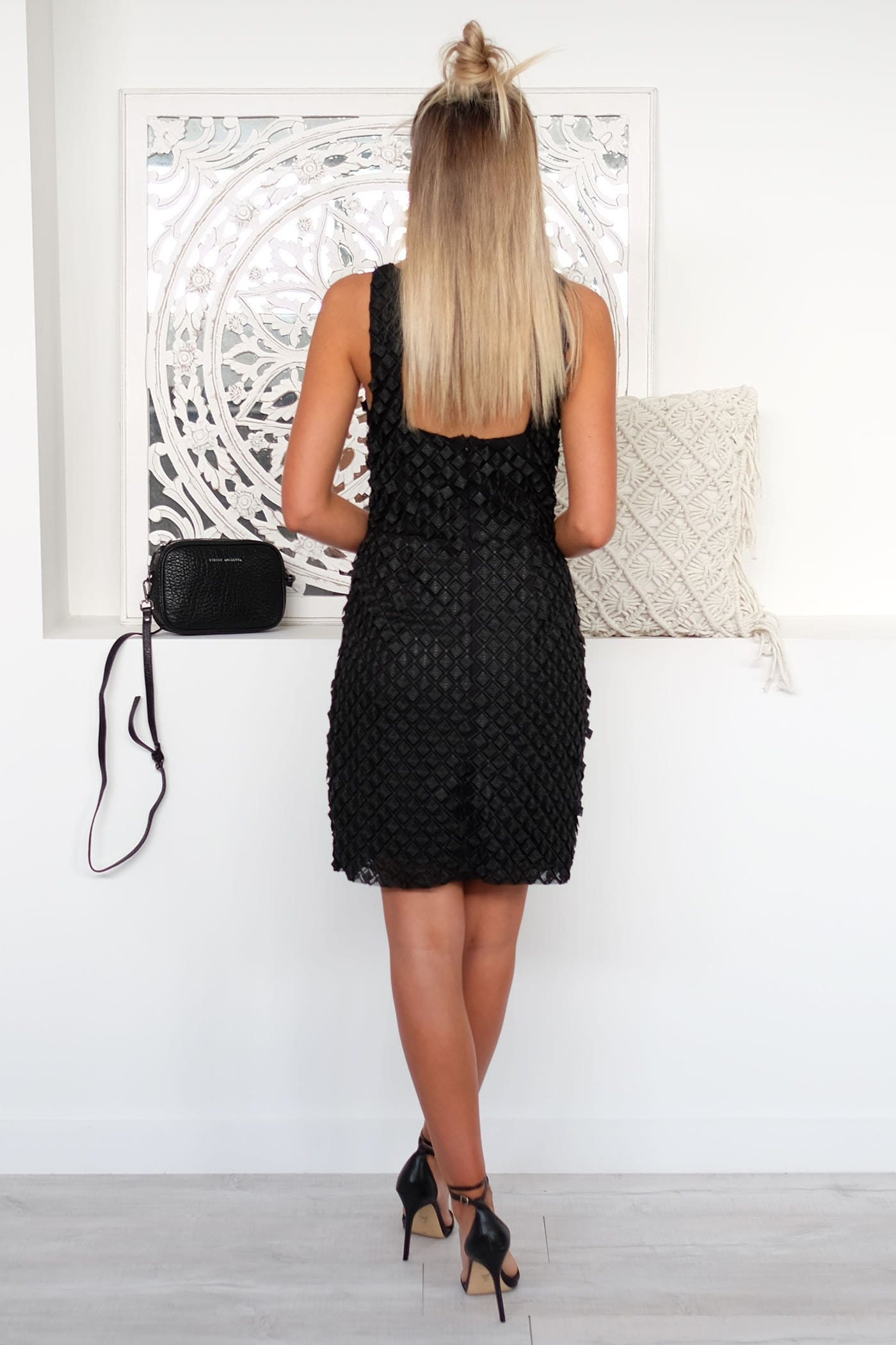 Lustre Mini Dress Black