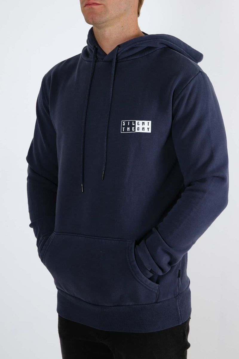 Lydon Hoody Navy Silent Theory - Jean Jail