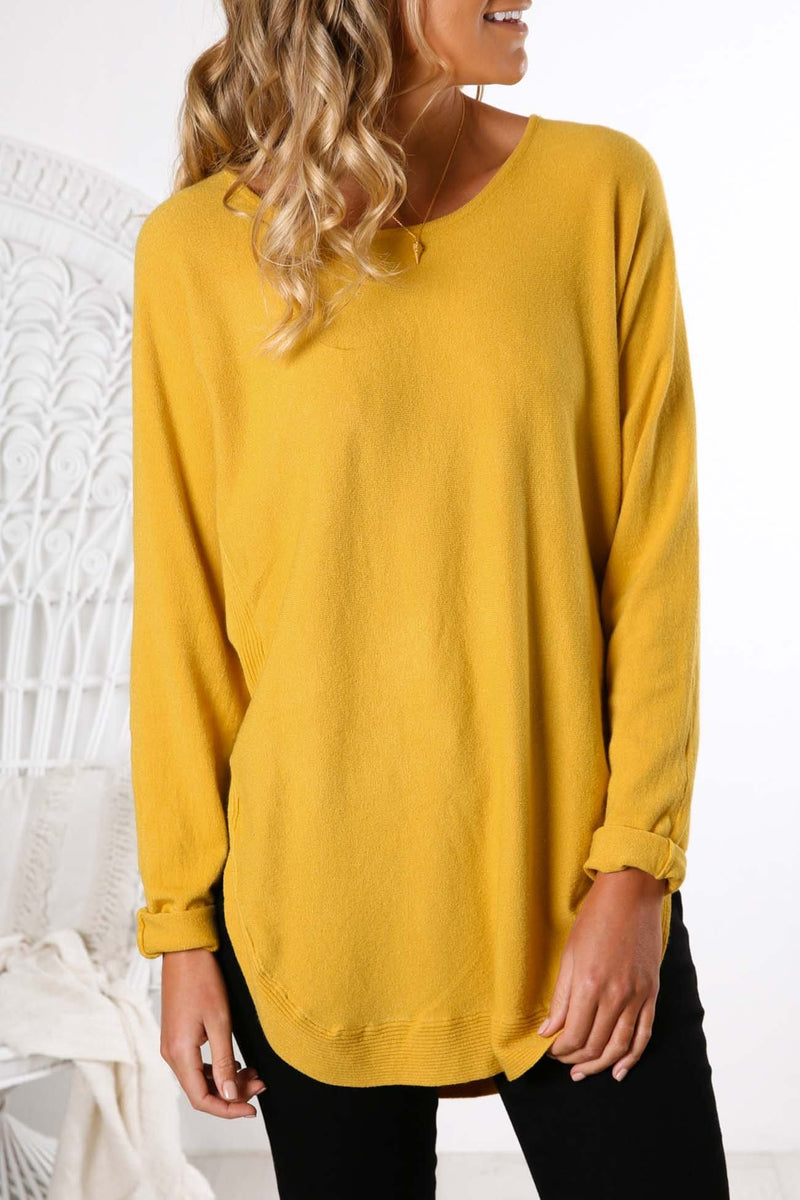 Lyla Knit Top Yellow Jean Jail - Jean Jail
