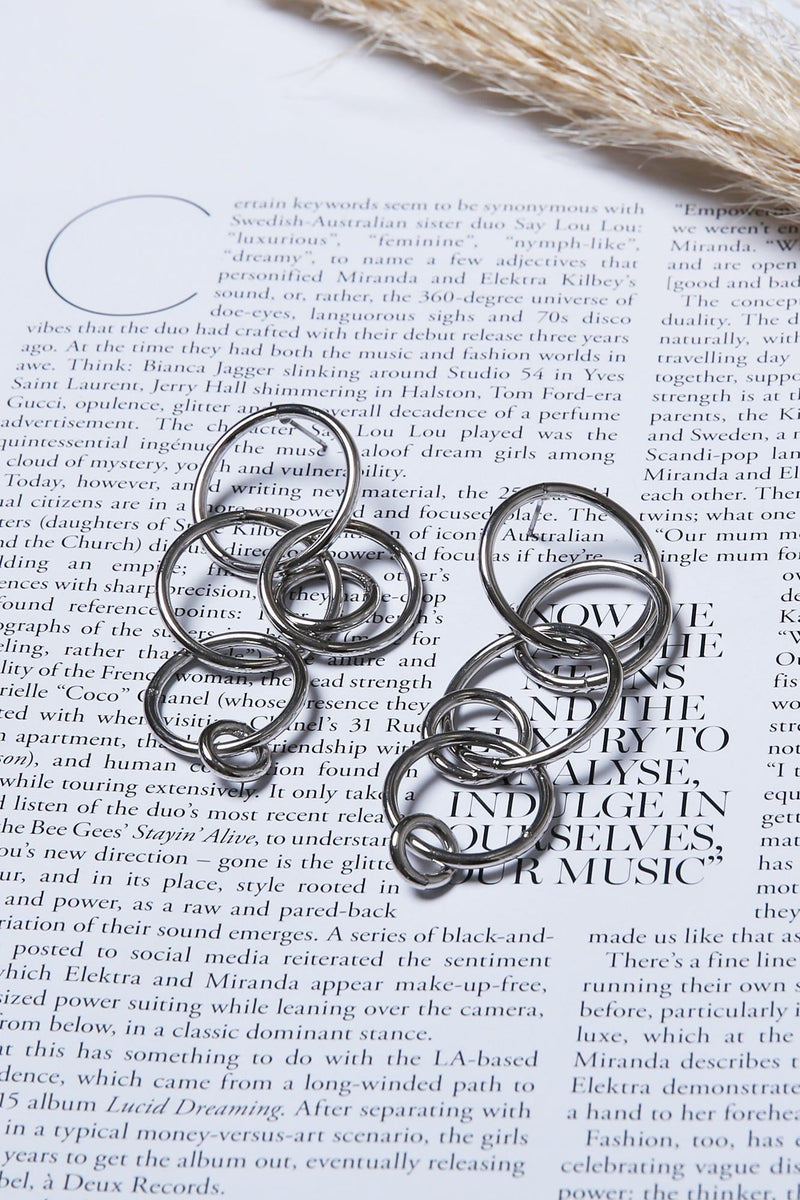 Maree Cirlcle Earrings Silver Jolie & Deen - Jean Jail