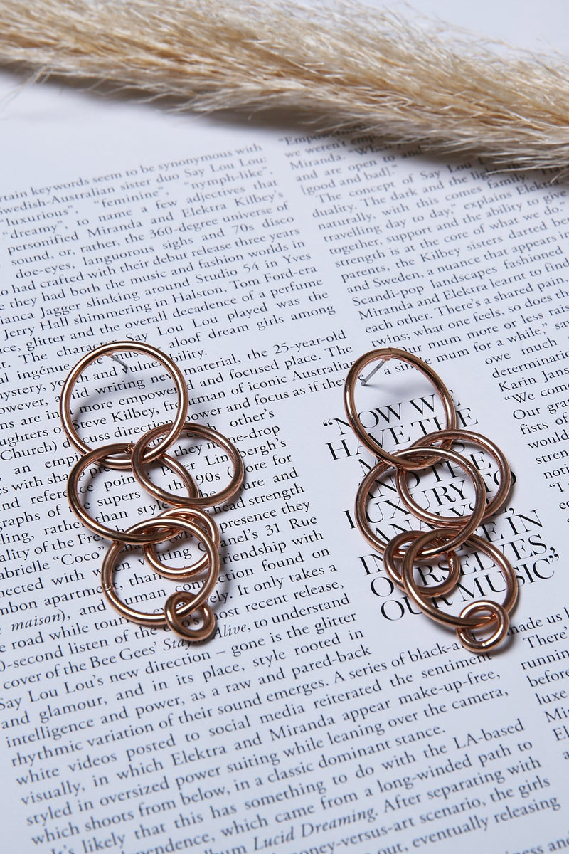 Maree Cirlcle Earrings Rose Gold Jolie & Deen - Jean Jail