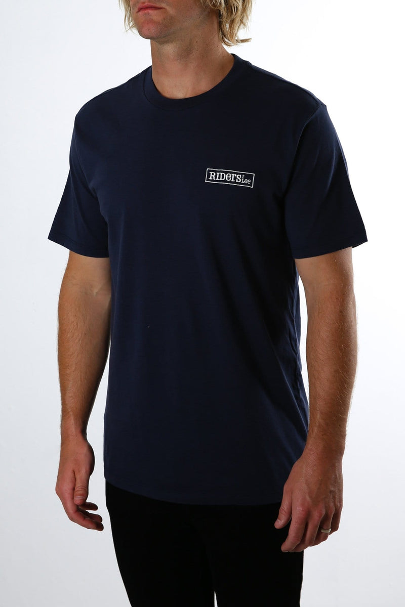 Trademark Tee Navy Worn