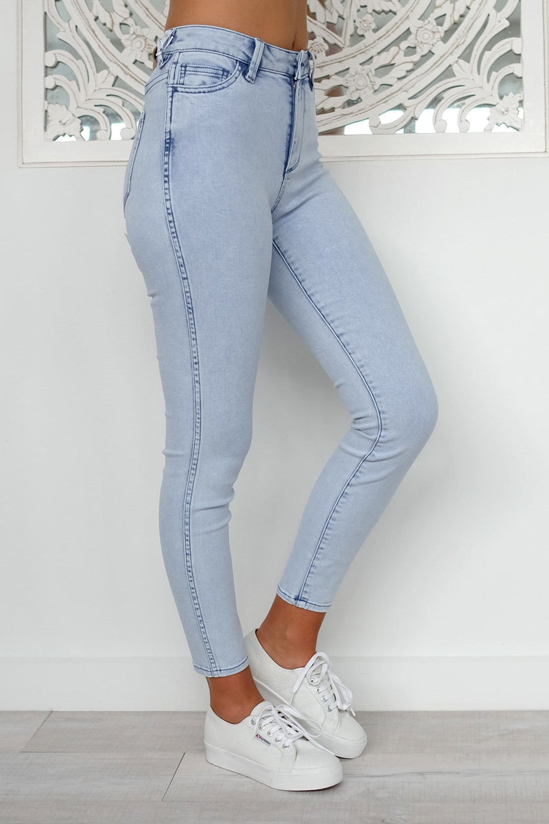 Mid Ankle Skimmer Jean Lilac Daze Riders - Jean Jail