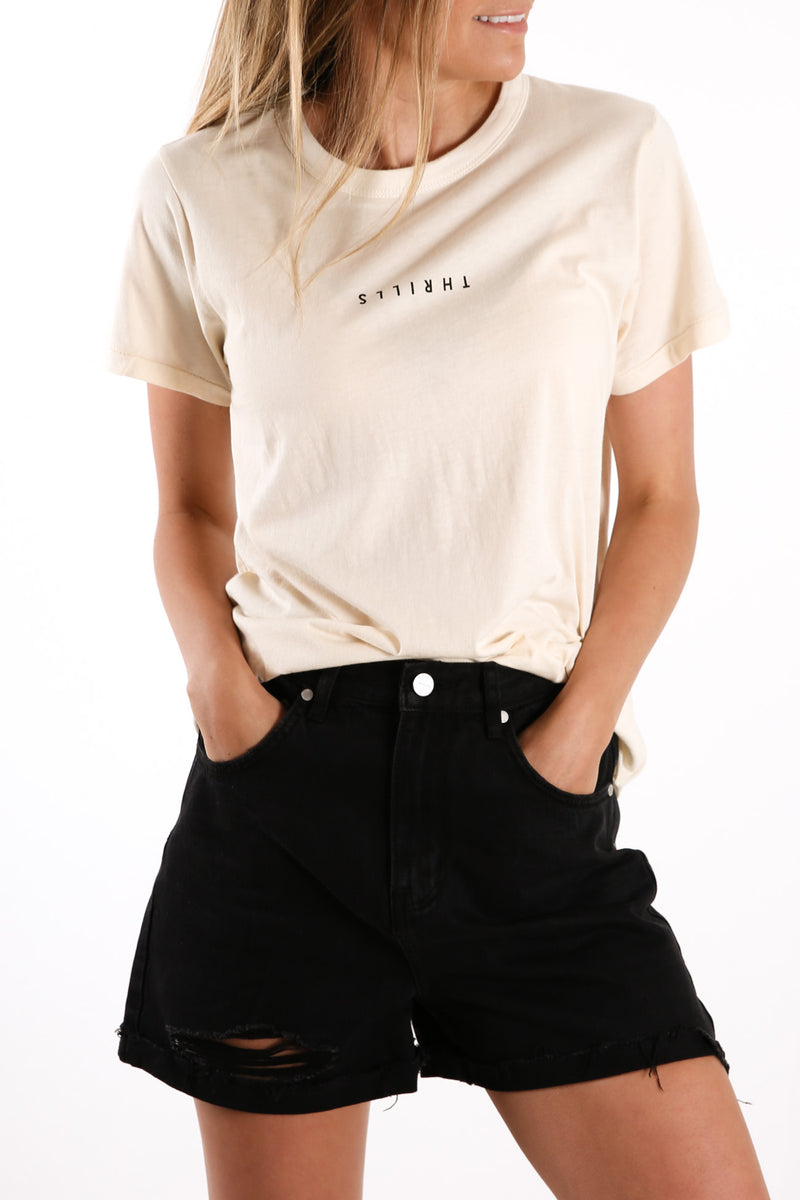 Minimal Thrills Relaxed Tee Unbleached