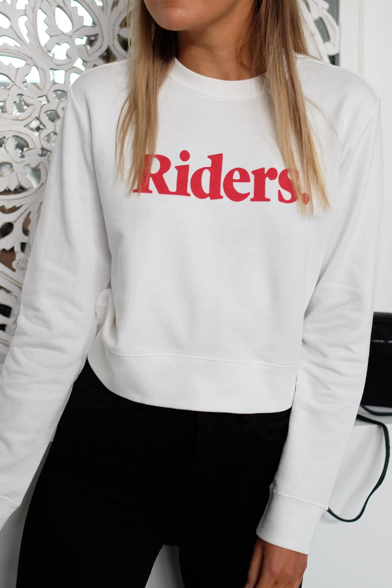 Monterey Cropped Fleece White Riders - Jean Jail