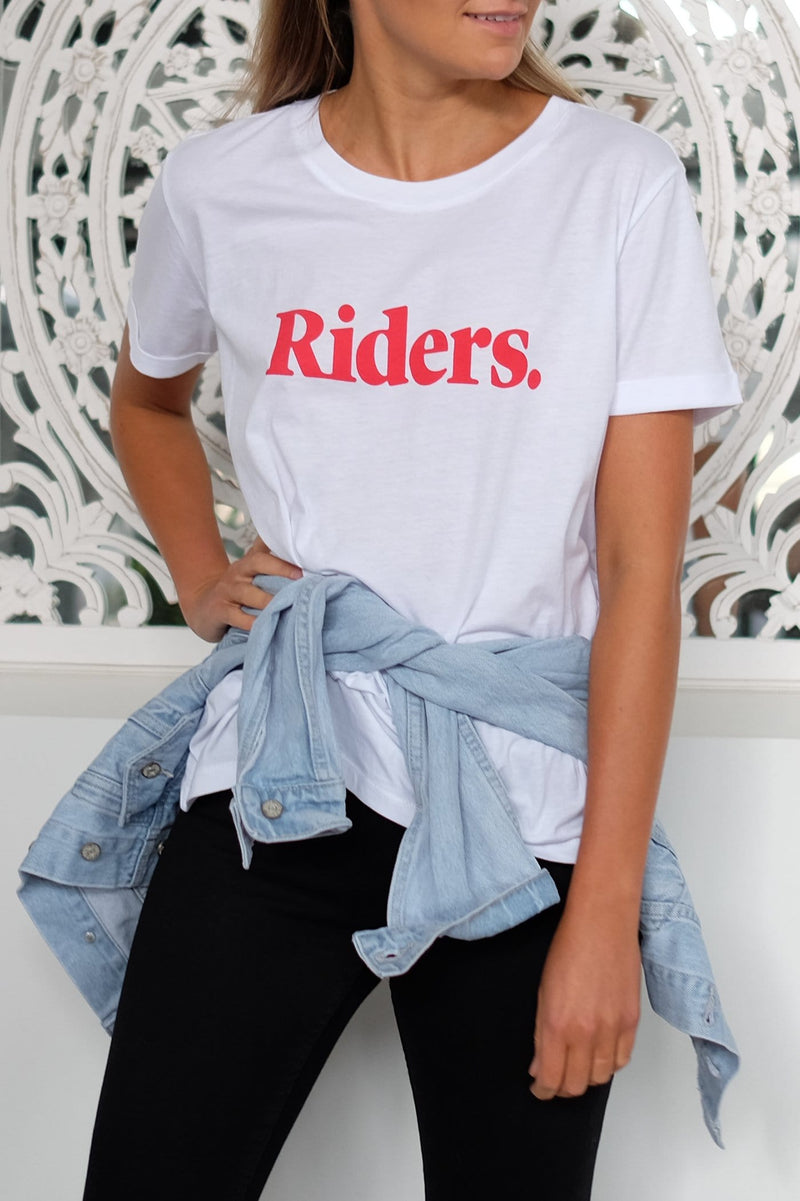 Monterey Relaxed Tee White Riders - Jean Jail