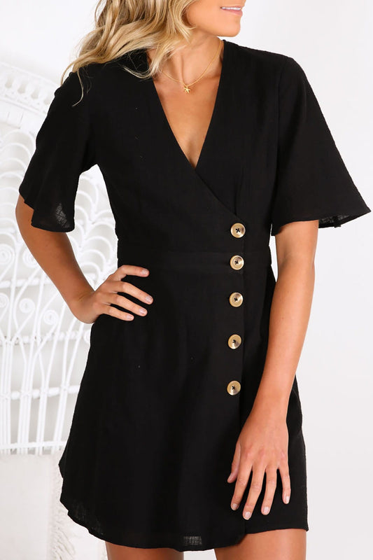 Movement Wrap Dress Black