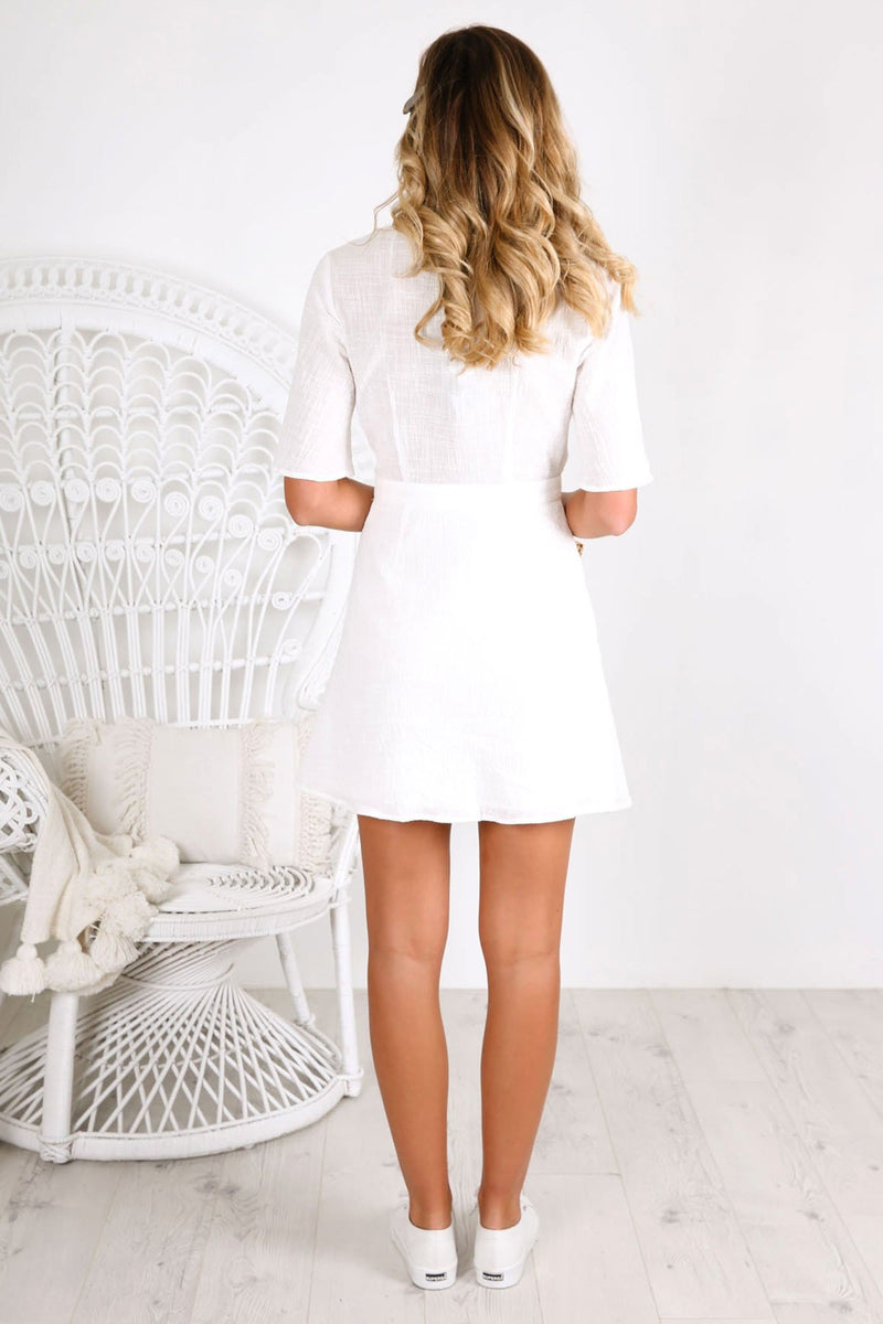 Movement Wrap Dress White
