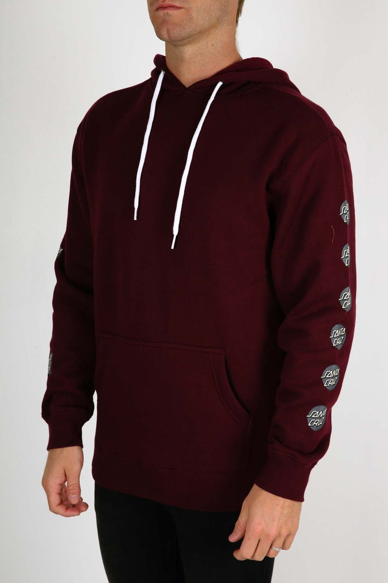Multi Dot Pop Hood Burgundy Santa Cruz - Jean Jail