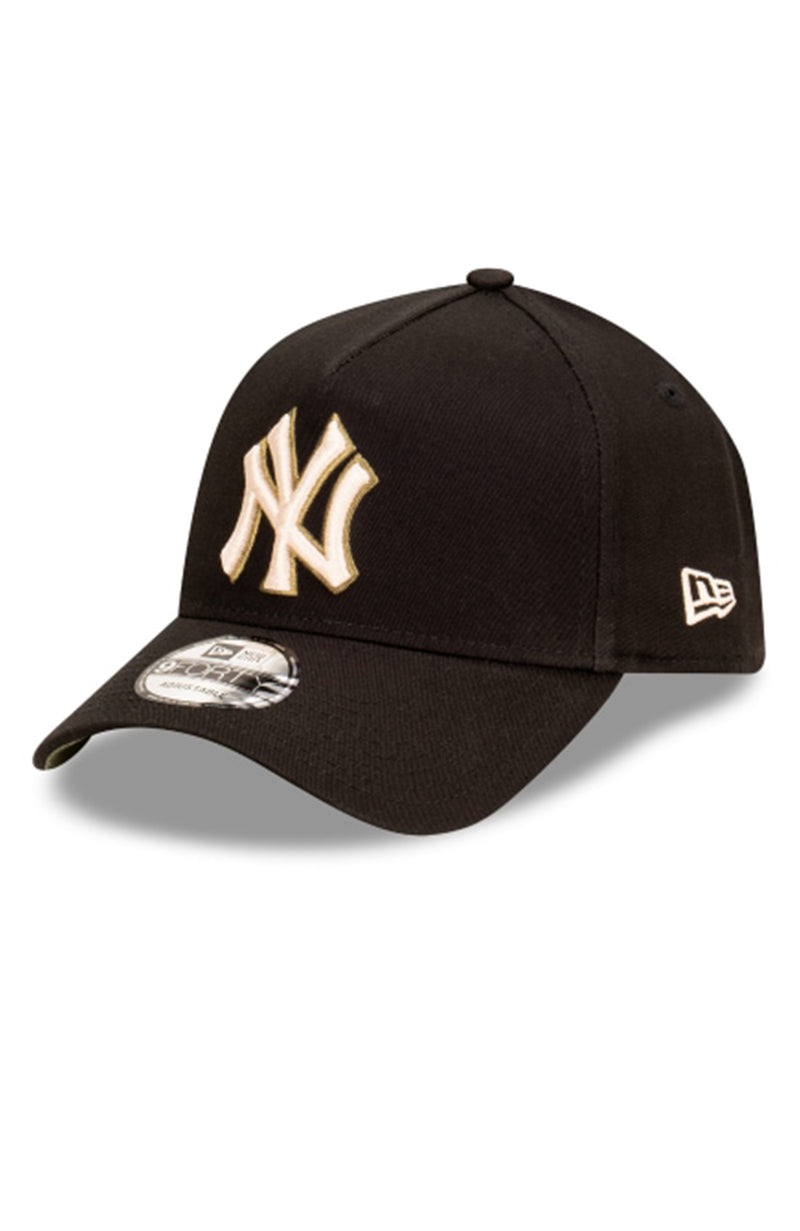New York Yankees 9FORTY A-Frame Black Stone Olive Snapback