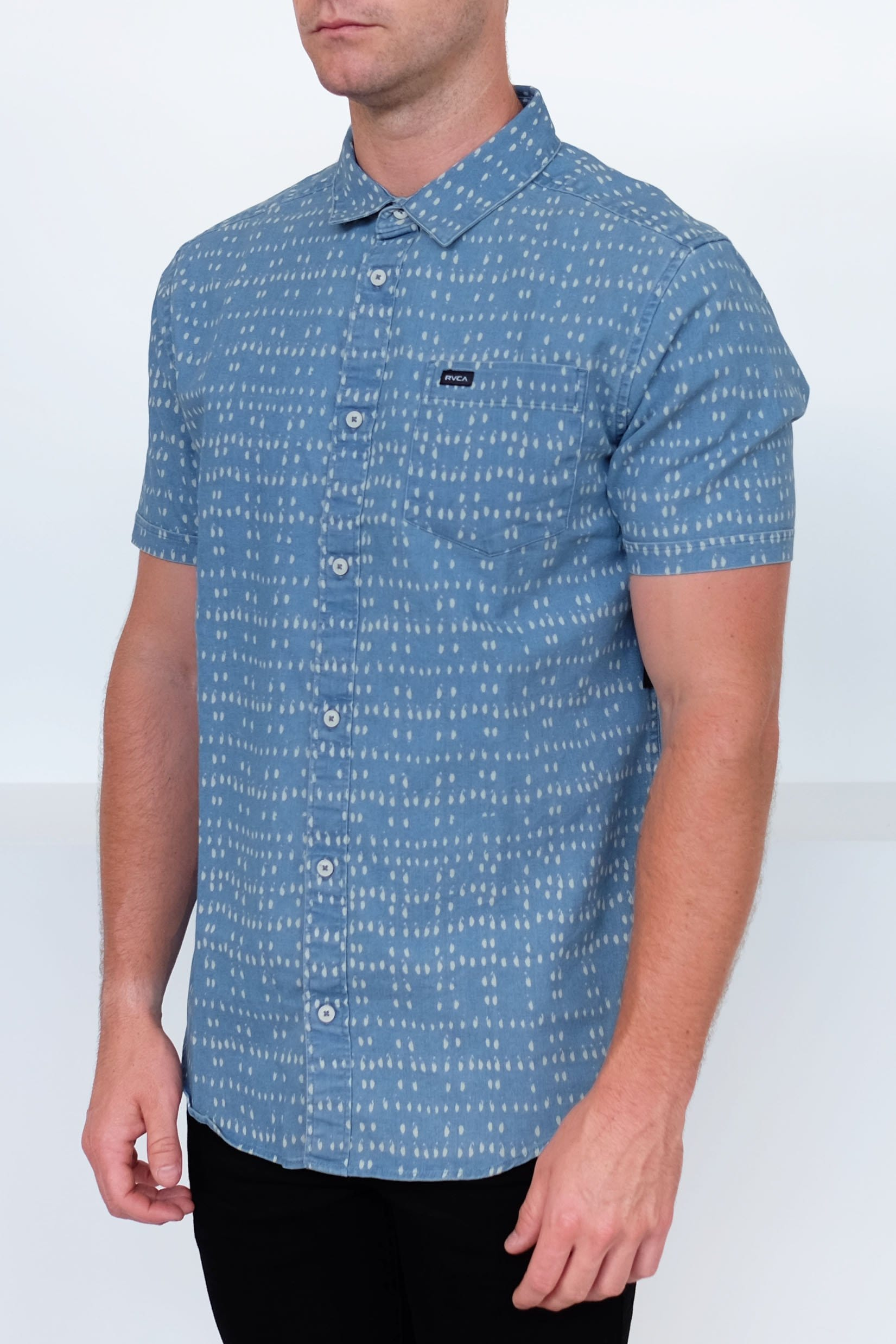 Nakama Dot Short Sleeve Shirt Denim