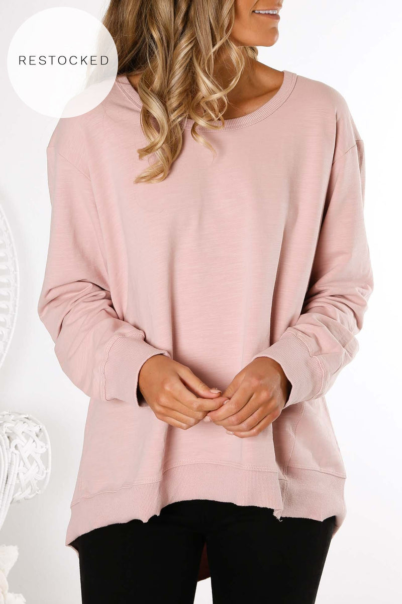 Newhaven Sweater Blush Marle