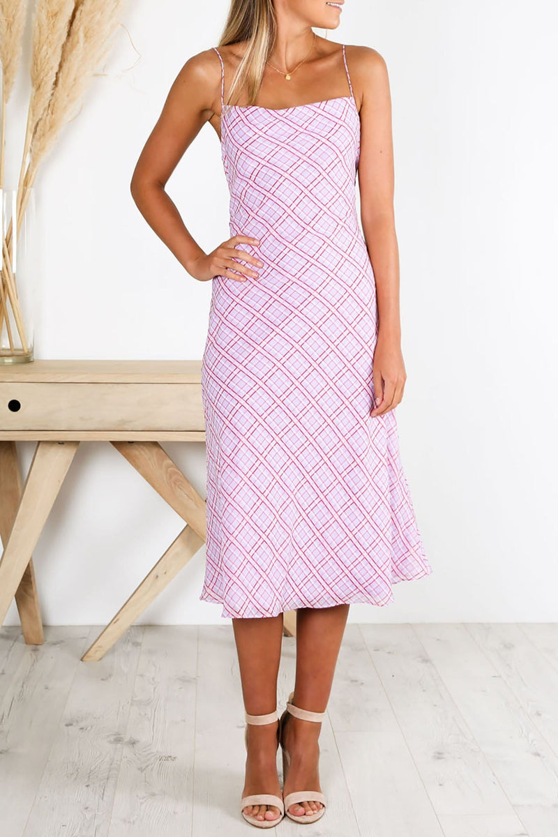 Nostalgia Dress Lilac Check Finders Keepers - Jean Jail