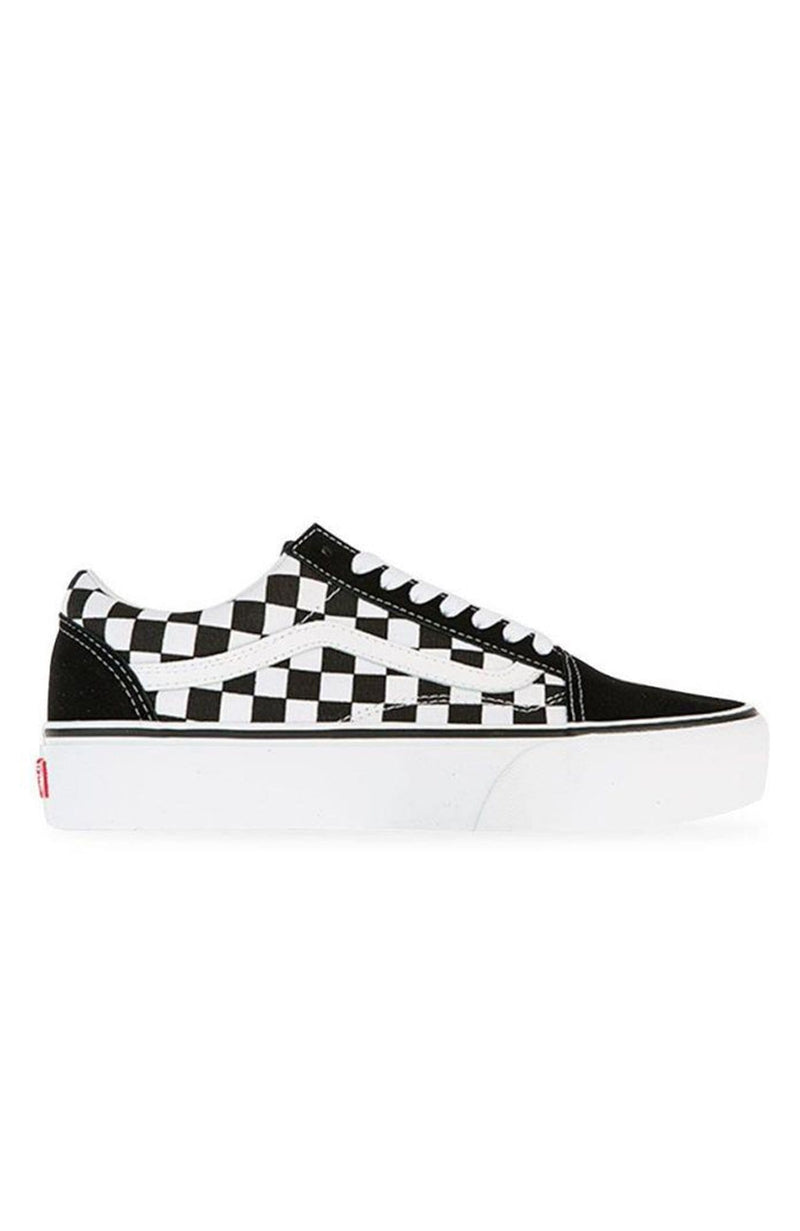 Old Skool Platform Checkerboard Black True White