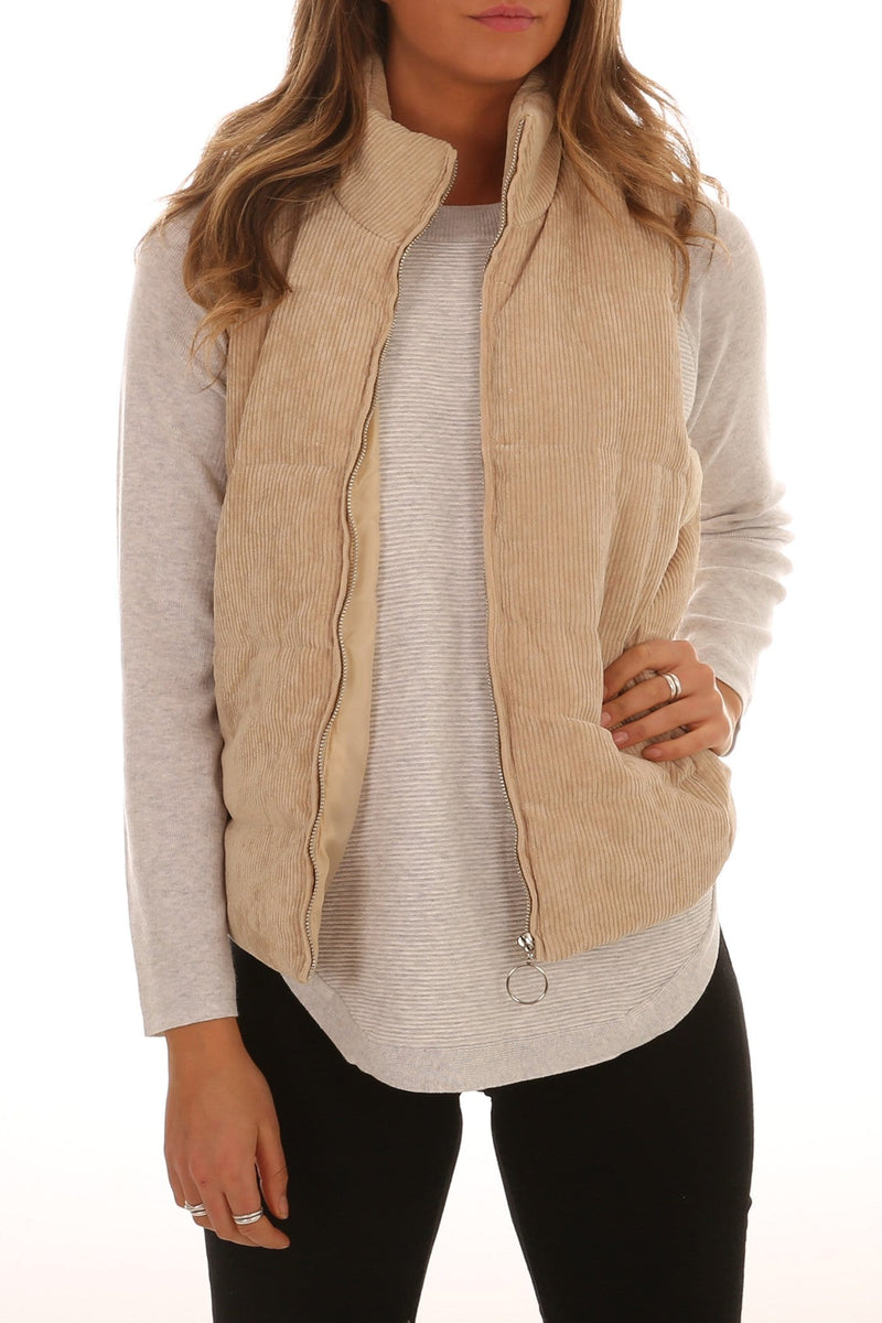 On Sundays Vest Beige Jean Jail - Jean Jail