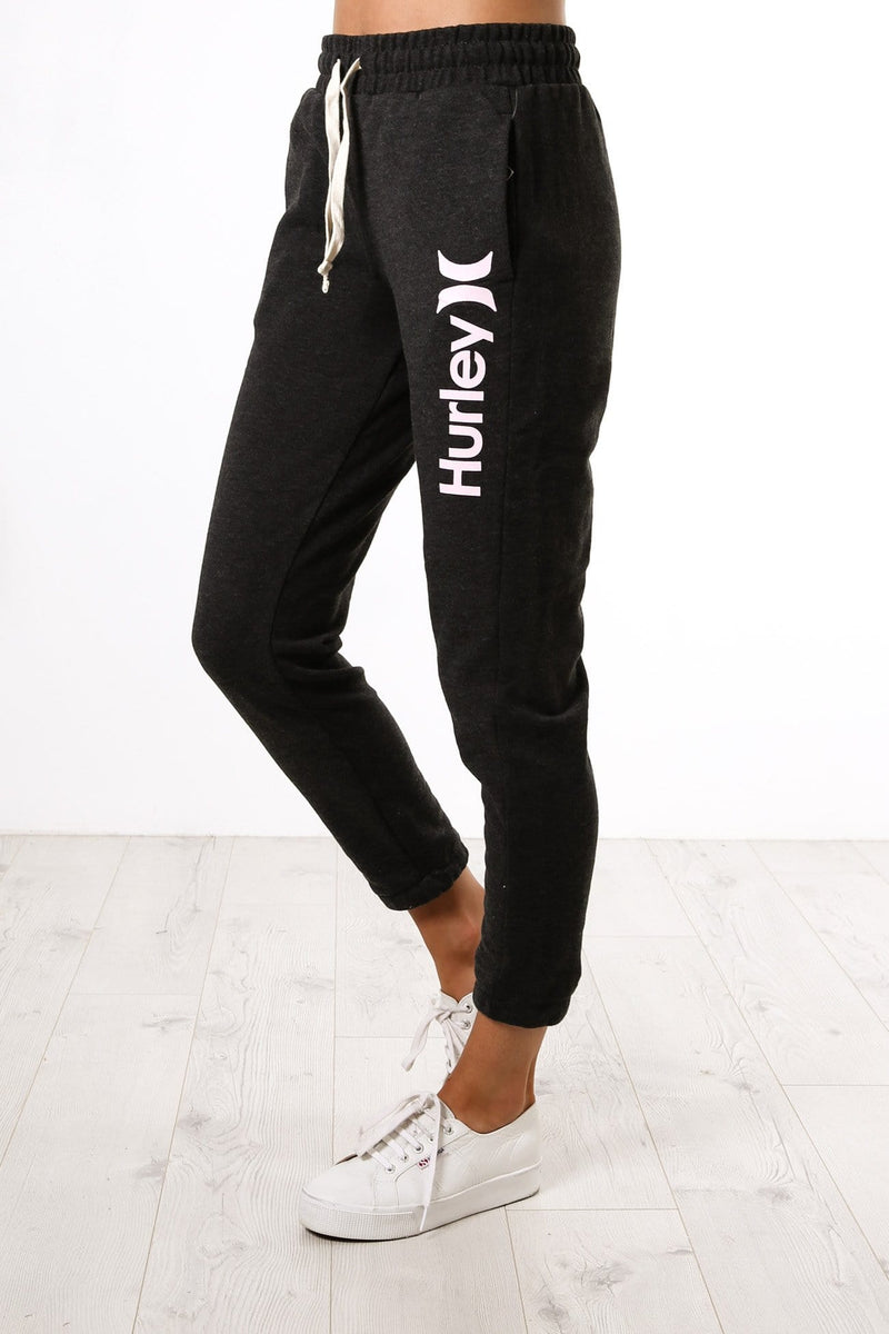 One & Only Fleece Pant Black Heather Pink Foam