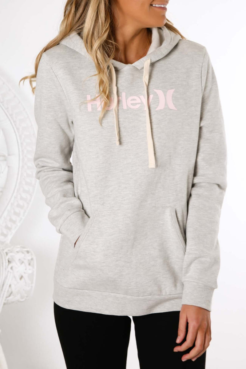 One & Only Pullover Fleece Grey Heather Hurley - Jean Jail