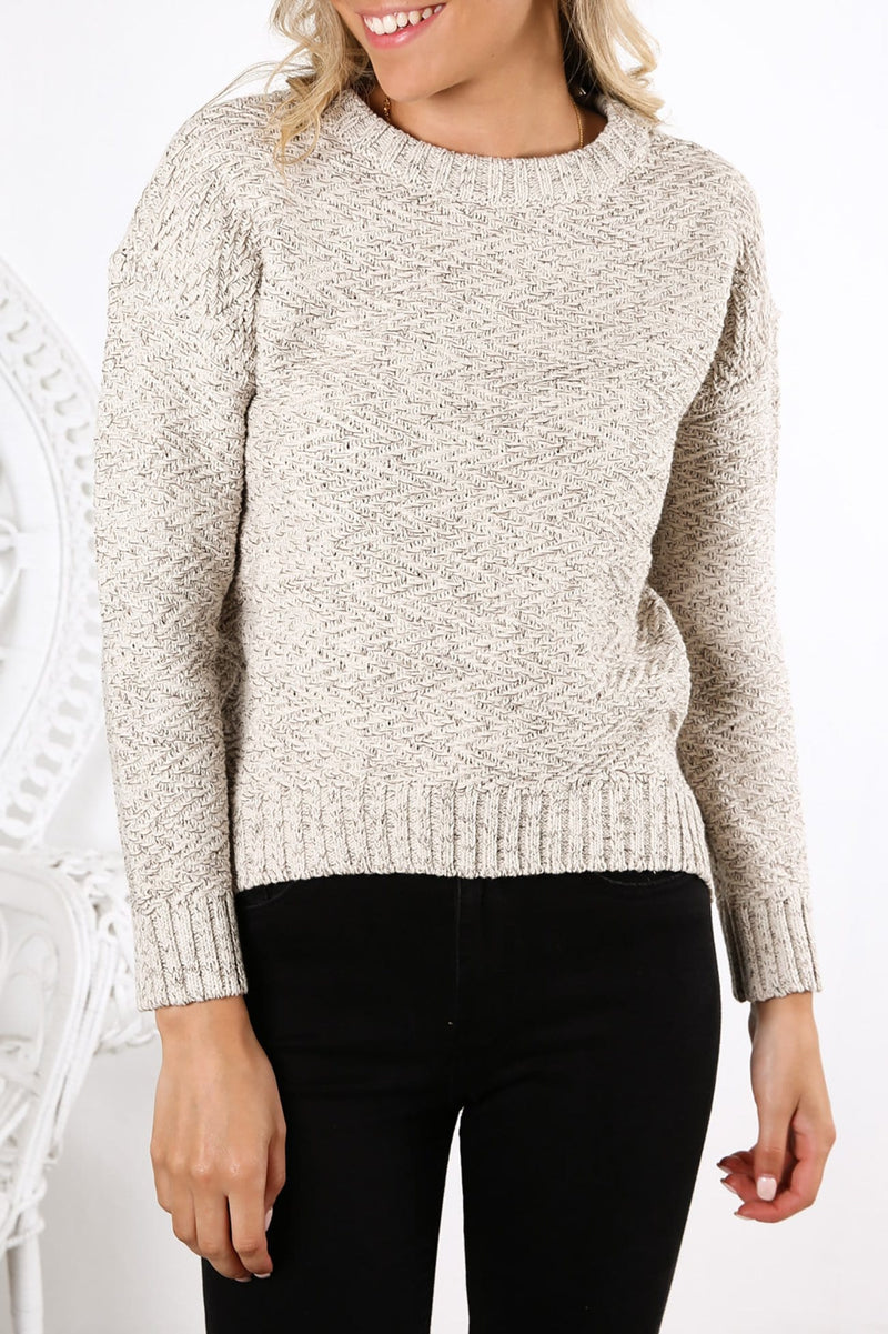 Opal Crew Neck Knit Opal Grey