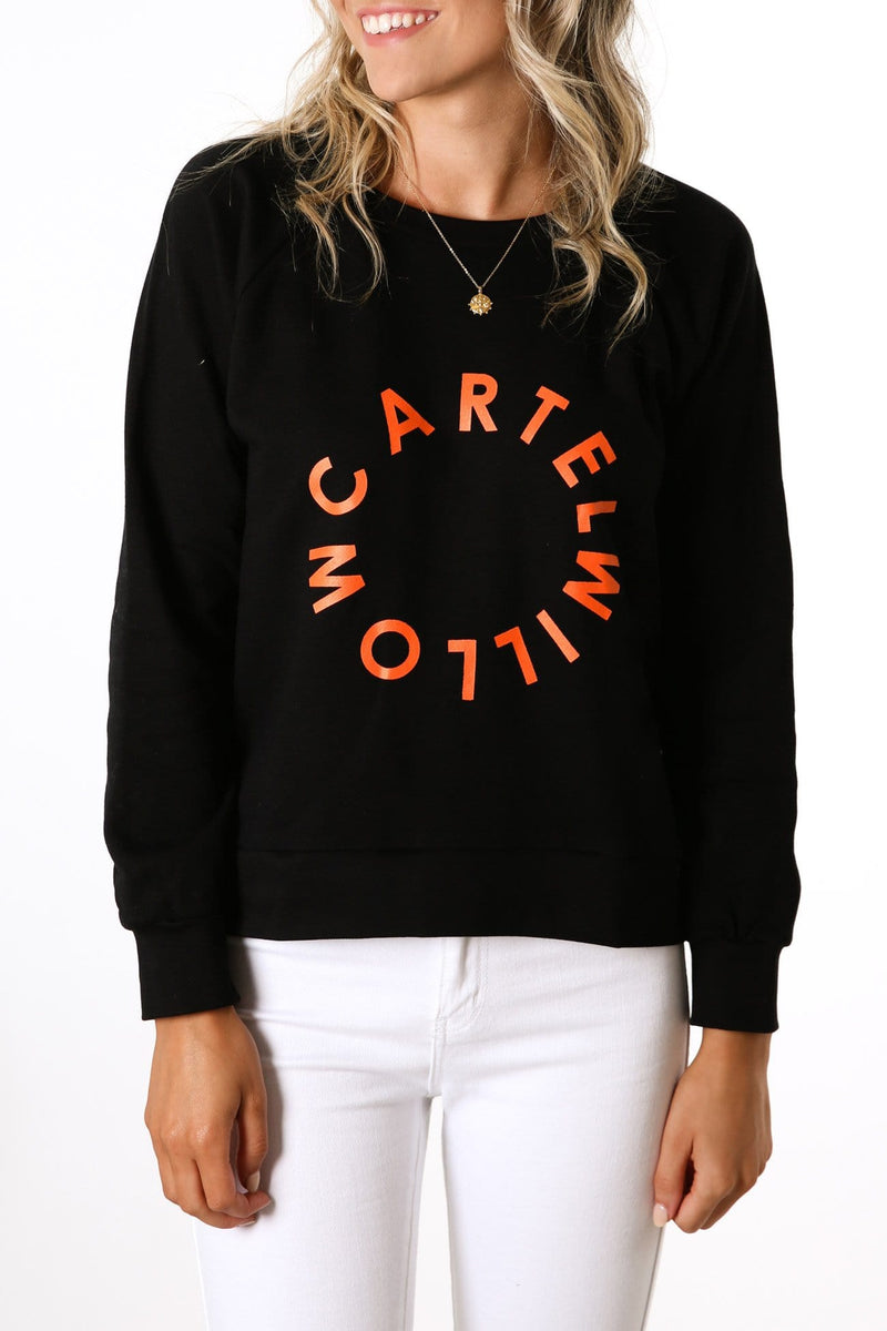 Orbit Logo Sweater Black