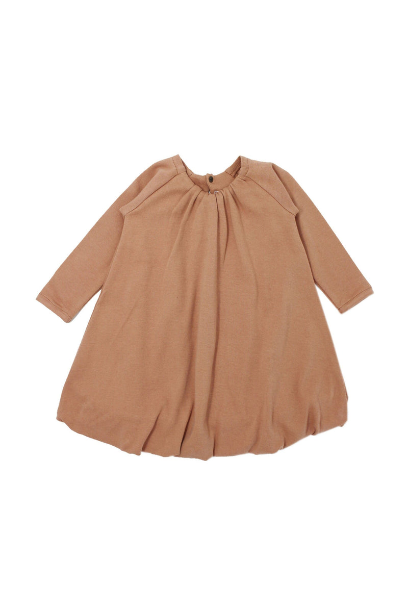 Organic Bubble Dress Nutmeg