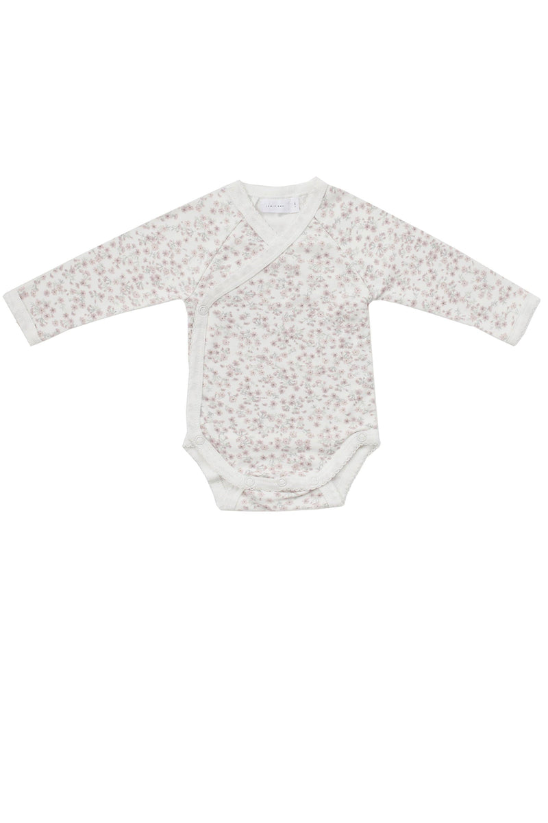 Organic Cotton Wrap Bodysuit Posy Floral