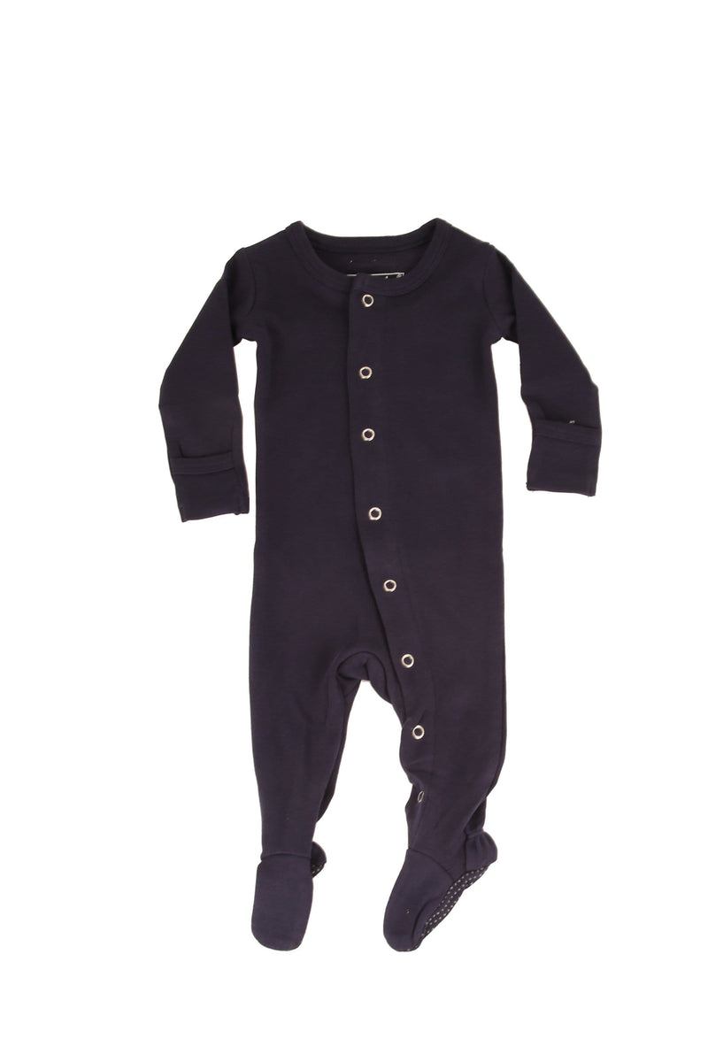 Organic Footed Overall Navy