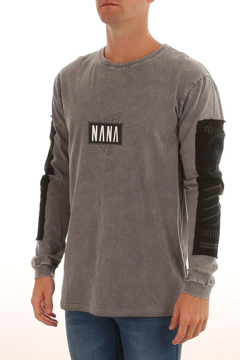 Origin Long Sleeve T-Shirt Acid Grey nANA jUDY - Jean Jail