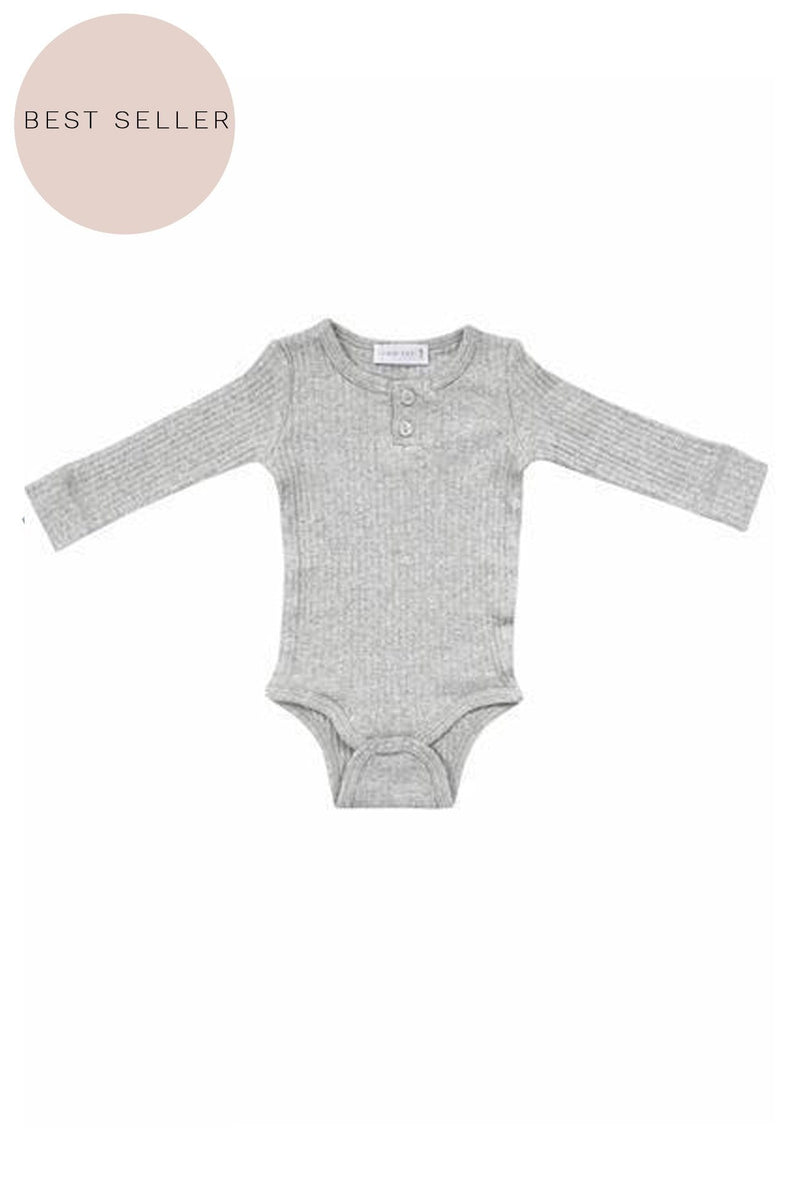 Original Cotton Modal Bodysuit Light Grey Marle