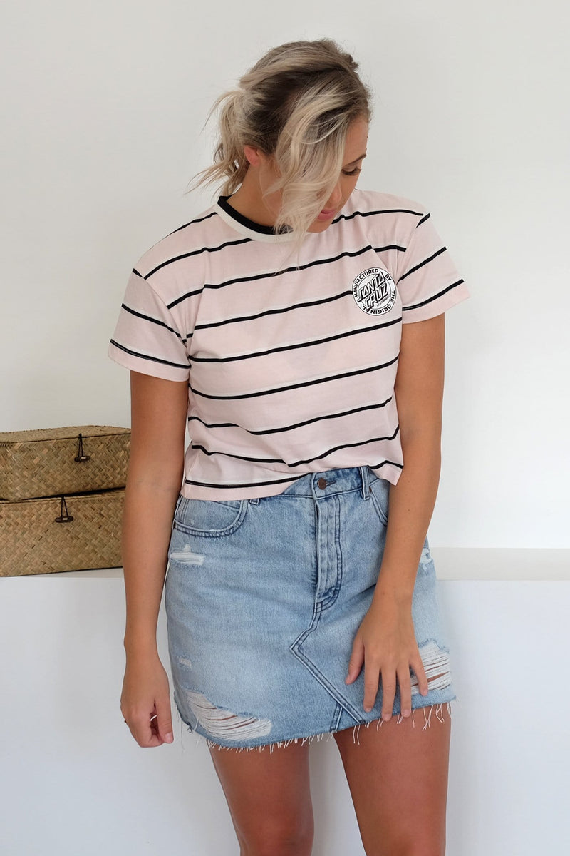 Original Dot Crop Tee Peony Stripe Santa Cruz - Jean Jail