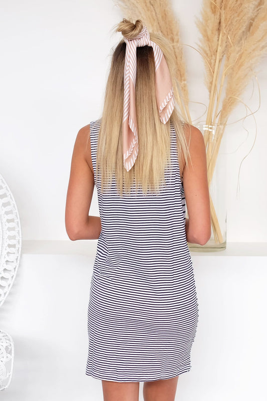 Originals Muscle Tank Dress Navy White Stripe