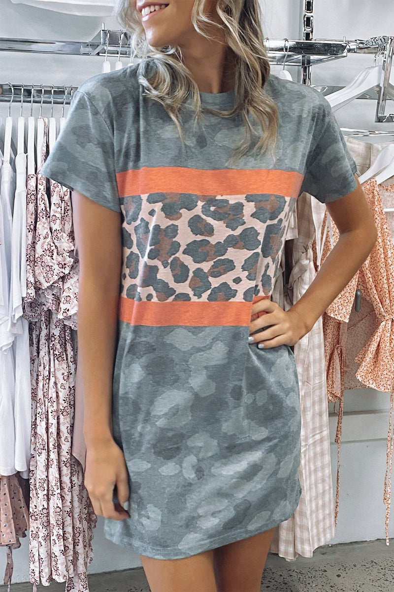 Out There Tee Dress Print