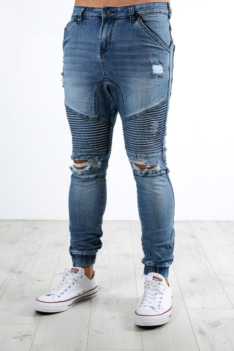 Outlaw Cuffed Pant Motely Blue