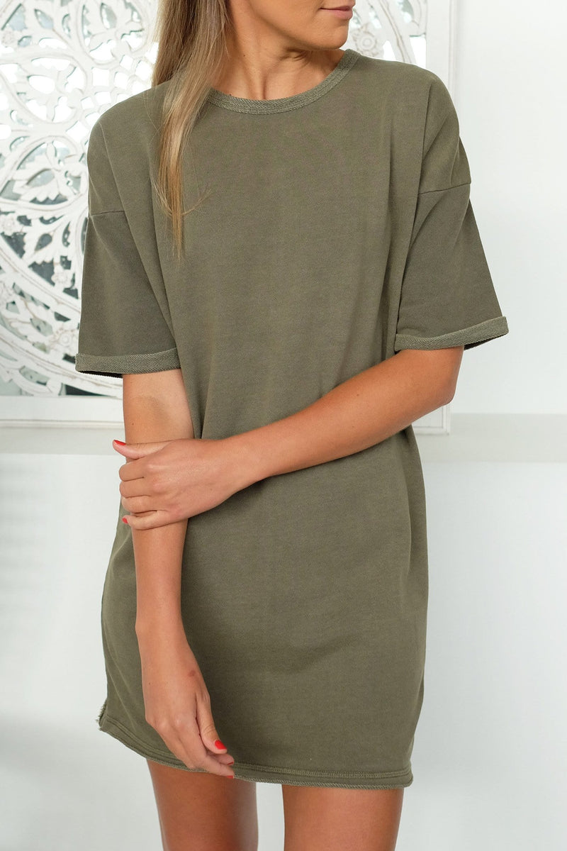 Parry Fleece Dress Khaki Silent Theory - Jean Jail