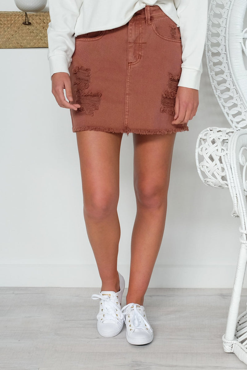 Patti Skirt Rust Thrills - Jean Jail