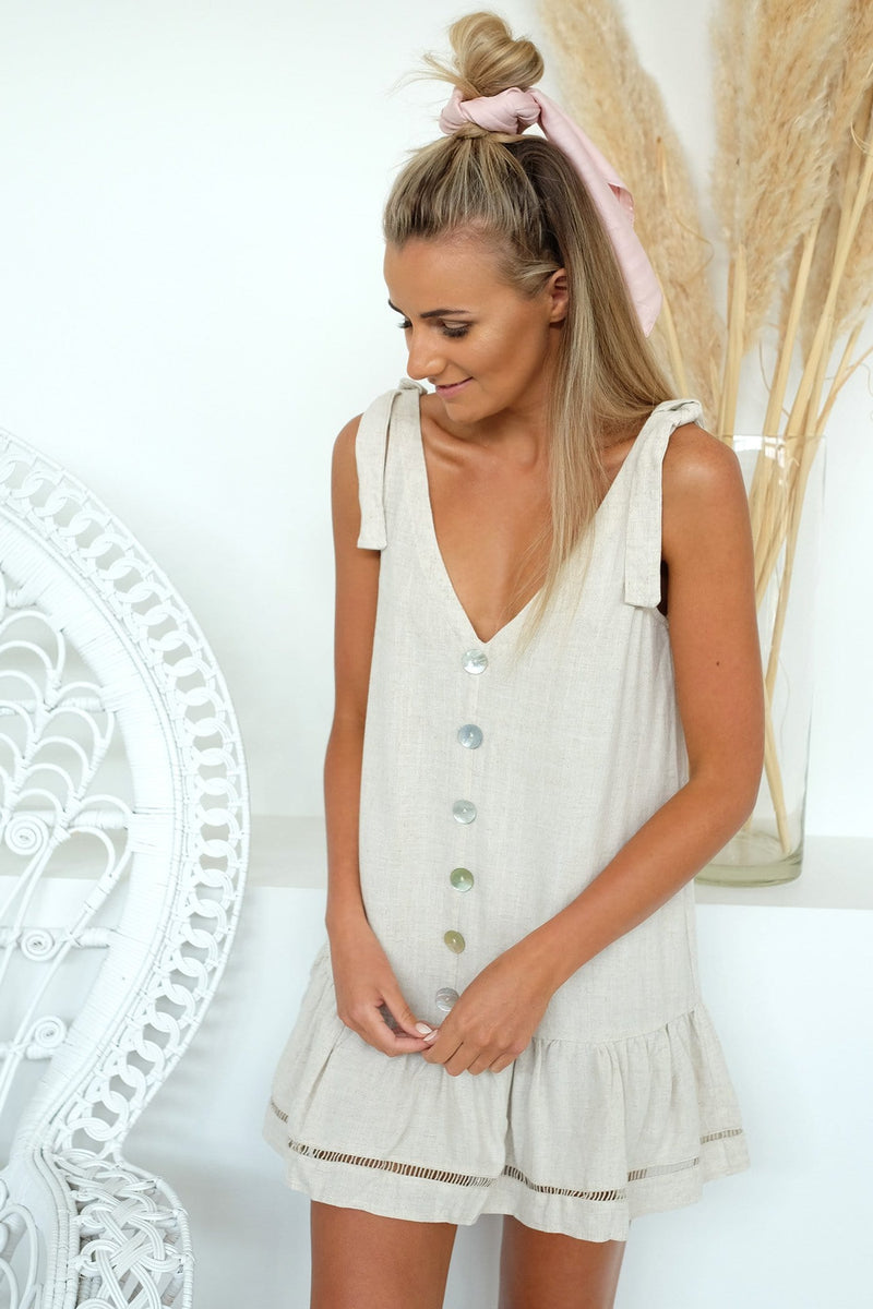 Peace Dress Oatmeal