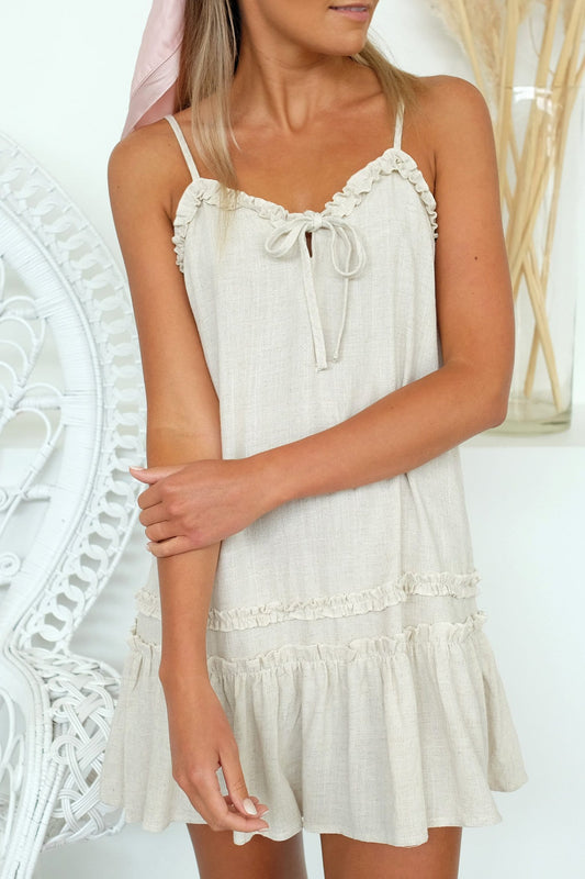 Pearl Dress Oatmeal