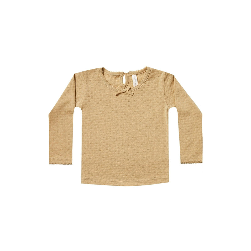Longsleeve Pointelle Tee Honey