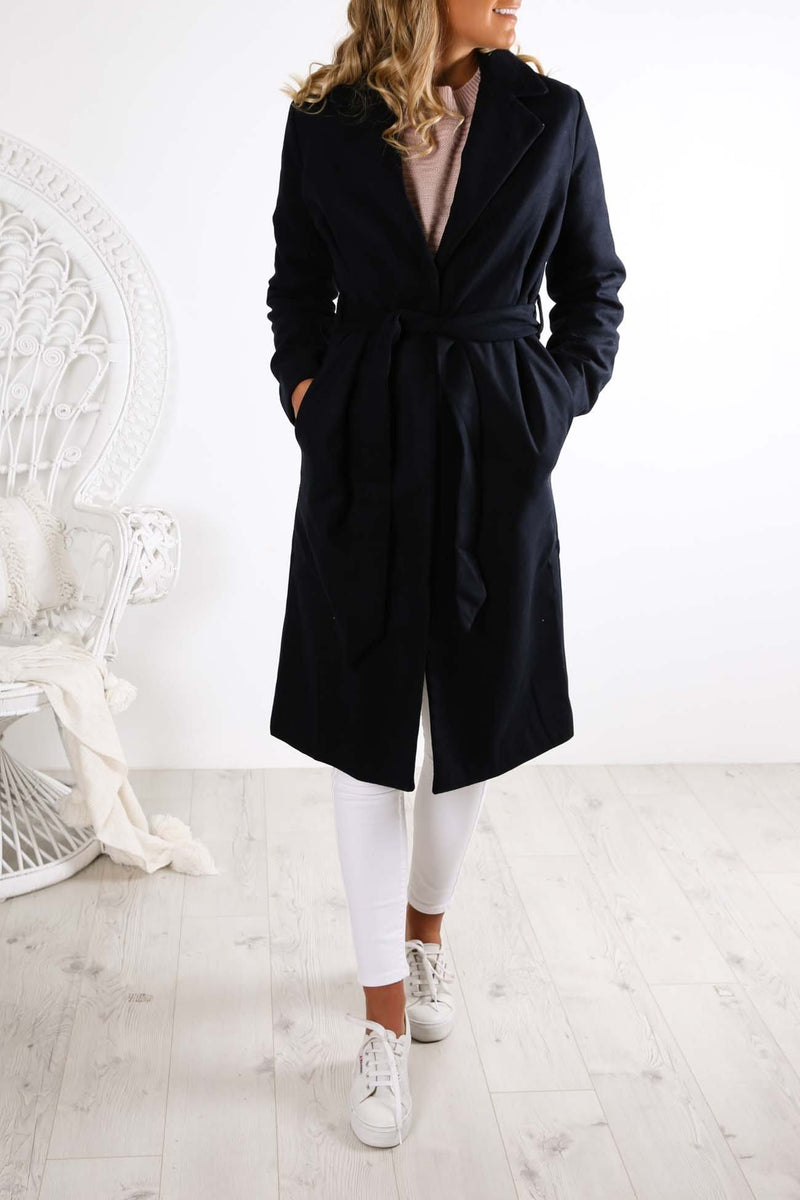 Portraits Coat Navy The Fifth Label - Jean Jail