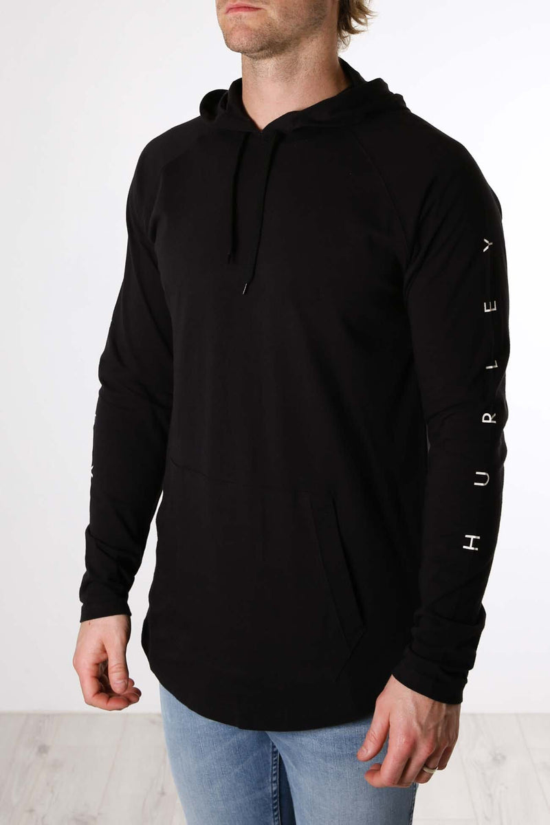Premium Mod Hooded Long Sleeve Black Hurley - Jean Jail